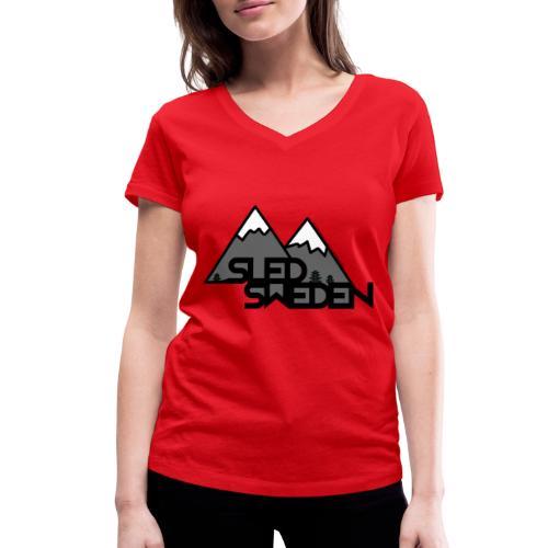 SledSweden Official Logo - Ekologisk T-shirt med V-ringning dam från Stanley & Stella