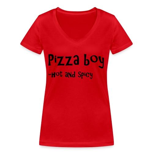 Pizza boy - Økologisk T-skjorte med V-hals for kvinner fra Stanley & Stella