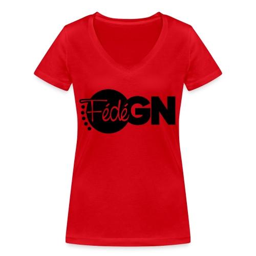Logo FédéGN pantone - T-shirt bio col V Stanley & Stella Femme