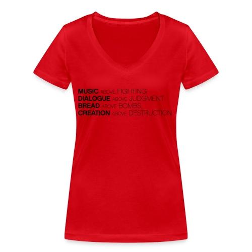 slogan png - Vrouwen bio T-shirt met V-hals van Stanley & Stella