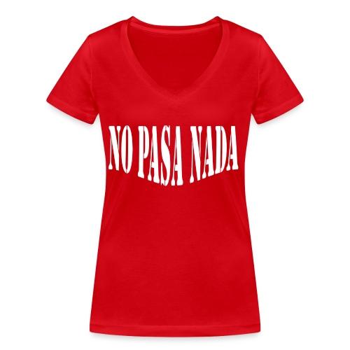 scritta per maglione png BIANCO - T-shirt ecologica da donna con scollo a V di Stanley & Stella