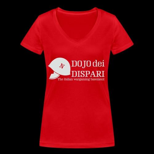 Logo con scritta grigio - T-shirt ecologica da donna con scollo a V di Stanley & Stella