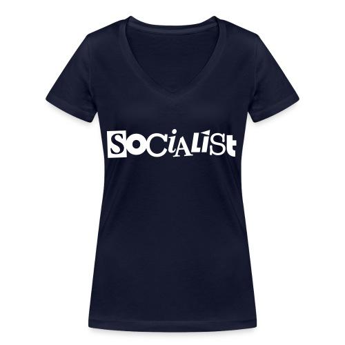 Socialist - Frauen Bio-T-Shirt mit V-Ausschnitt von Stanley & Stella