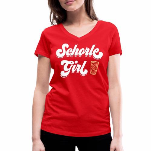 Schorle Girl und Dubbeglas - Frauen Bio-T-Shirt mit V-Ausschnitt von Stanley & Stella
