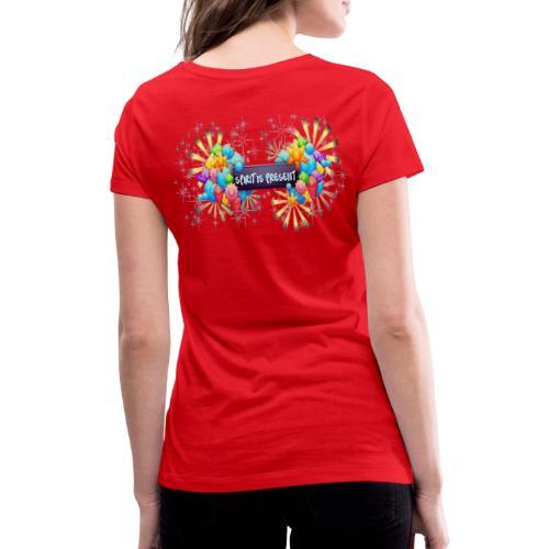 Spirit is Present - T-shirt ecologica da donna con scollo a V di Stanley & Stella