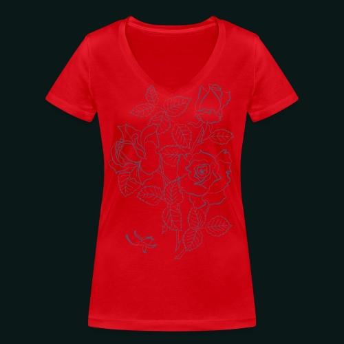 roses - Økologisk Stanley & Stella T-shirt med V-udskæring til damer
