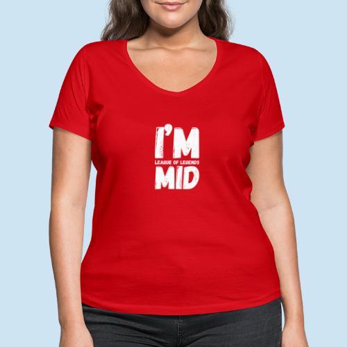 I'm mid main - Økologisk T-skjorte med V-hals for kvinner fra Stanley & Stella