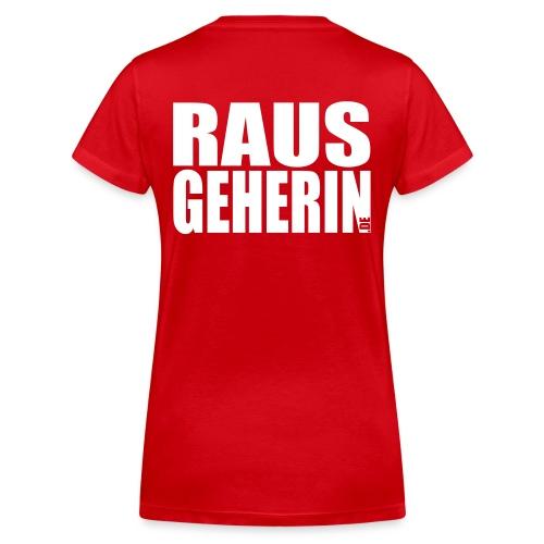 I120501_Logo-T-Shirt-RAUS - Frauen Bio-T-Shirt mit V-Ausschnitt von Stanley & Stella