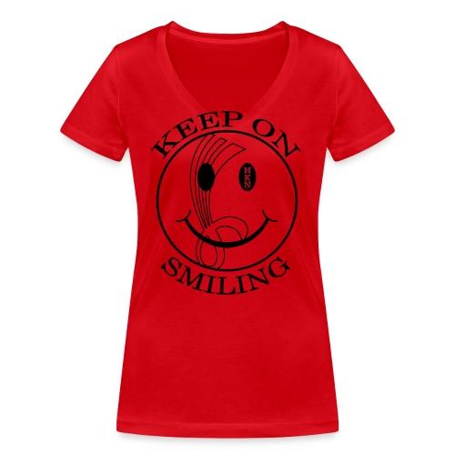 hkn 11 schwarz - Frauen Bio-T-Shirt mit V-Ausschnitt von Stanley & Stella