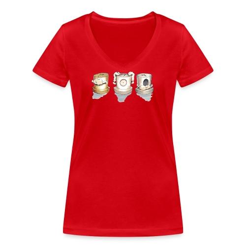 see no evil ver.0.3 Rasmus Balstrøm - Økologisk Stanley & Stella T-shirt med V-udskæring til damer