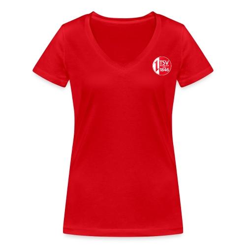 Rand um Logo - Frauen Bio-T-Shirt mit V-Ausschnitt von Stanley & Stella