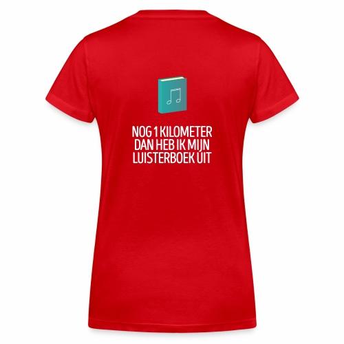 Nog 1 kilometer - luisterboek - fun shirt - Vrouwen bio T-shirt met V-hals van Stanley & Stella