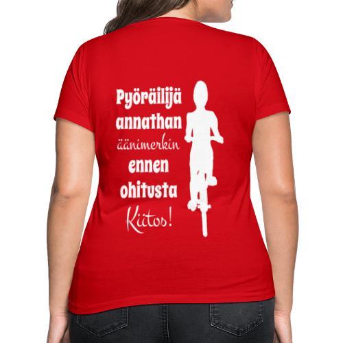 Äänimerkki ennen ohitusta, kiitos - Stanley & Stellan naisten v-aukkoinen luomu-T-paita