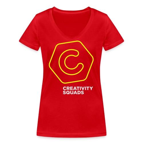 CS Hoodie Pink Unisex - Stanley & Stellan naisten v-aukkoinen luomu-T-paita
