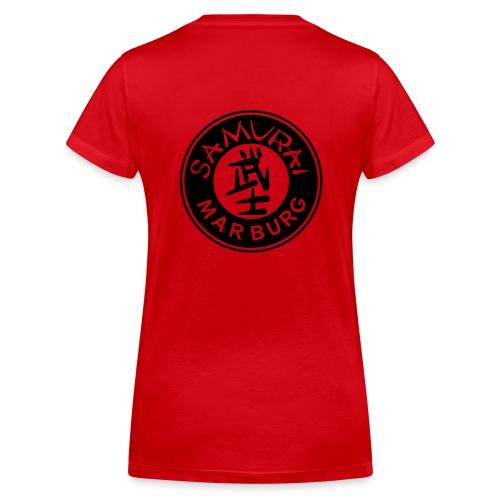 Logo schwarz auf weiß - Frauen Bio-T-Shirt mit V-Ausschnitt von Stanley & Stella