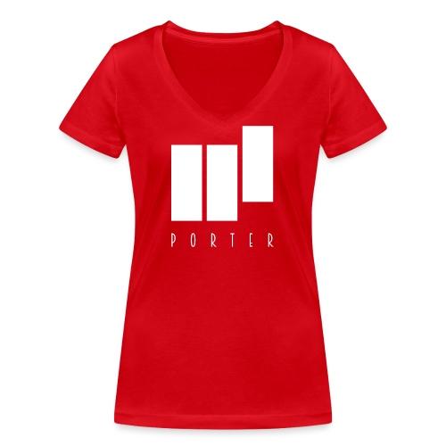 PORTER Sign White - Frauen Bio-T-Shirt mit V-Ausschnitt von Stanley & Stella