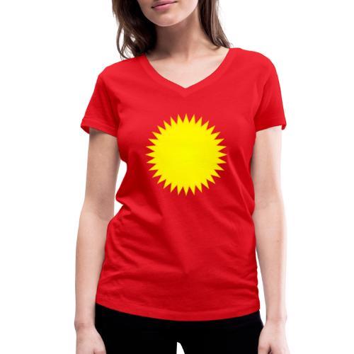 Sonne - Frauen Bio-T-Shirt mit V-Ausschnitt von Stanley & Stella