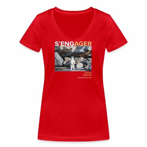 1 Achat = 1 Don à l'association Greenland Trees - T-shirt bio col V Stanley & Stella Femme