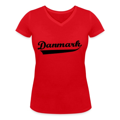 Danmark Swish - Økologisk Stanley & Stella T-shirt med V-udskæring til damer