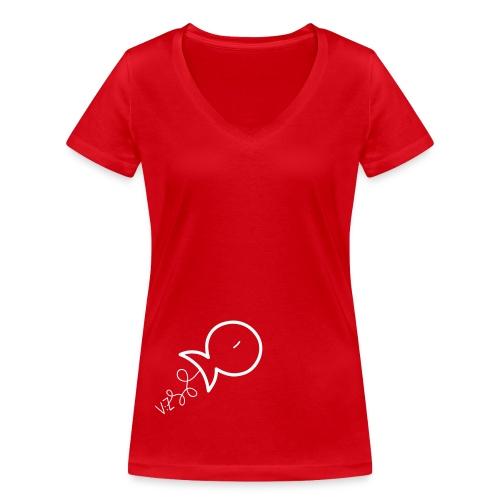 fishes vz - T-shirt ecologica da donna con scollo a V di Stanley & Stella