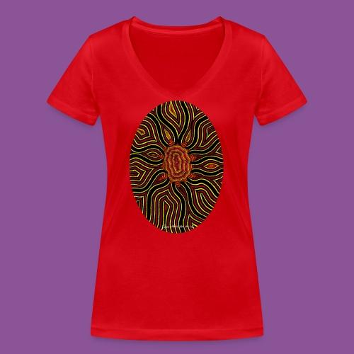 Aura 11 - Frauen Bio-T-Shirt mit V-Ausschnitt von Stanley & Stella