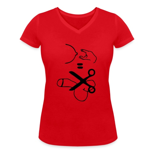 Antigrabsch - Frauen Bio-T-Shirt mit V-Ausschnitt von Stanley & Stella