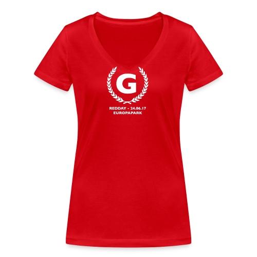 redday kranz - Frauen Bio-T-Shirt mit V-Ausschnitt von Stanley & Stella