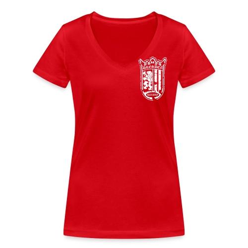 TEC - Wappen - Dirty - Frauen Bio-T-Shirt mit V-Ausschnitt von Stanley & Stella
