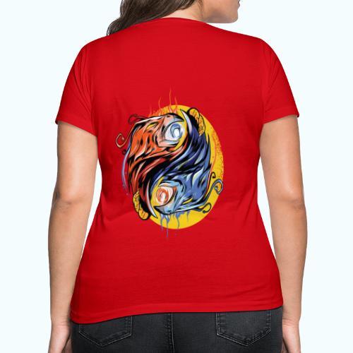 Japan Phoenix - Women's Organic V-Neck T-Shirt by Stanley & Stella