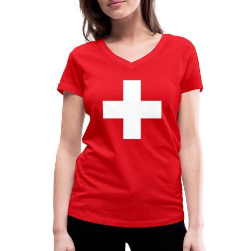 Kreuz - Frauen Bio-T-Shirt mit V-Ausschnitt von Stanley & Stella