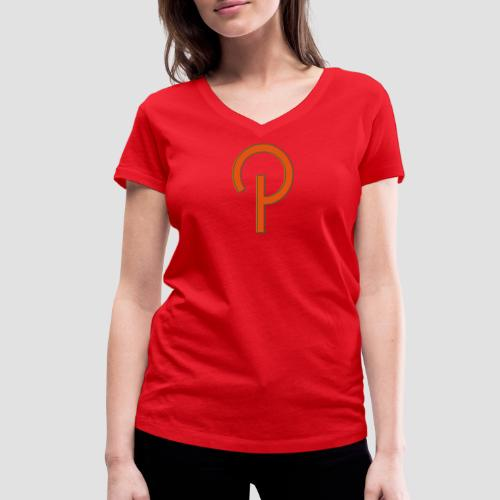 P logo Pillmann - Women's Organic V-Neck T-Shirt by Stanley & Stella