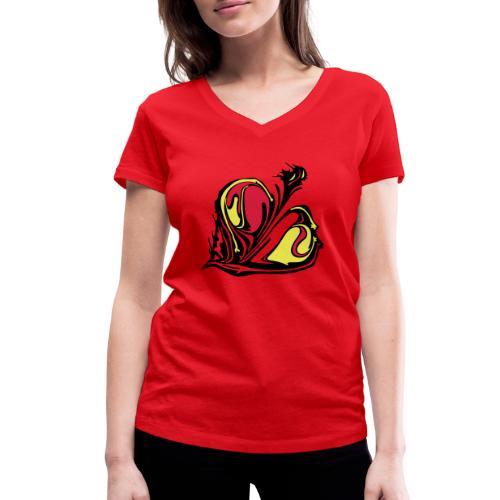 TIAN GREEN - KONU - Frauen Bio-T-Shirt mit V-Ausschnitt von Stanley & Stella