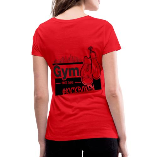 Gym in Druckfarbe schwarz - Frauen Bio-T-Shirt mit V-Ausschnitt von Stanley & Stella