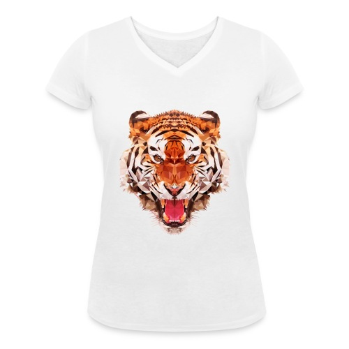 tiger low - T-shirt bio col V Stanley & Stella Femme
