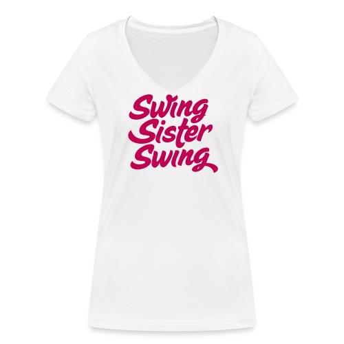 Swing Sister Swing - Vrouwen bio T-shirt met V-hals van Stanley & Stella