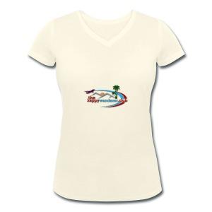 The Happy Wanderer Club Merchandise - Women's Organic V-Neck T-Shirt by Stanley & Stella