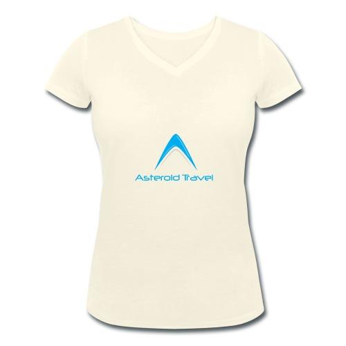 Asteroid Travel Logo - Økologisk T-skjorte med V-hals for kvinner fra Stanley & Stella