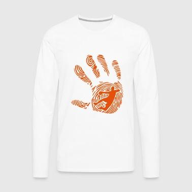 handball fingerabdruck hand 1010 - Männer Premium Langarmshirt