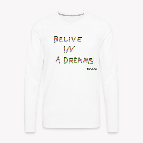 Clinere Belive - Koszulka męska Premium z długim rękawem