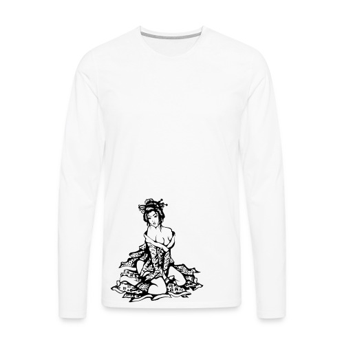 Geisha (black) - Männer Premium Langarmshirt