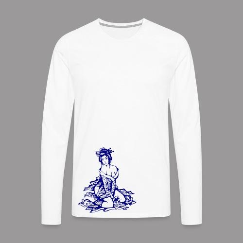 Geisha (navi) - Männer Premium Langarmshirt