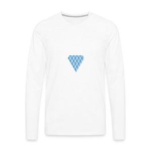 Diamanter i Diamanter - Herre premium T-shirt med lange ærmer