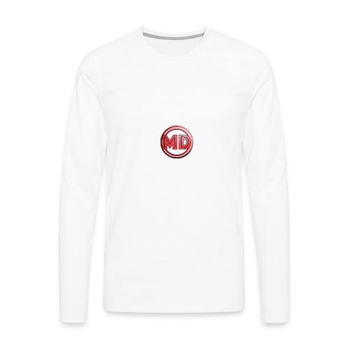MDvidsTV logo - Mannen Premium shirt met lange mouwen