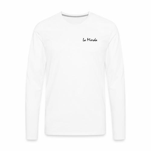 La Mierda White - Mannen Premium shirt met lange mouwen