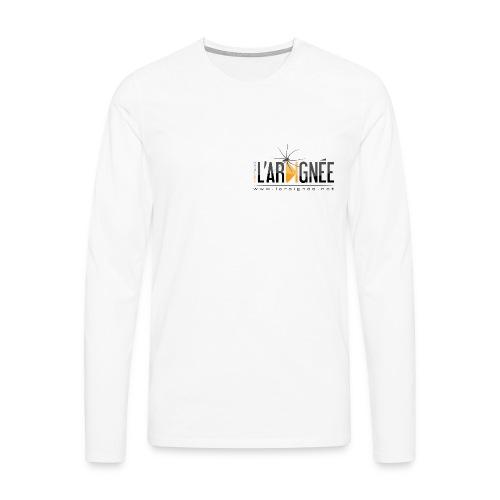 L'ARAIGNÉE, logo noir - T-shirt manches longues Premium Homme