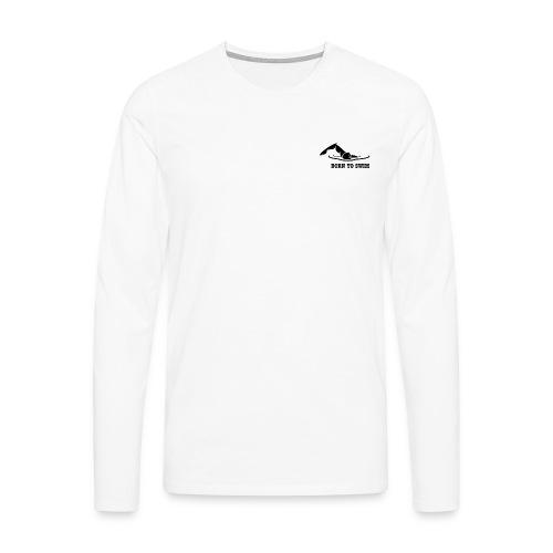 Born to swim - T-shirt manches longues Premium Homme