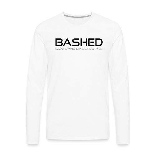 White iconic tee - Mannen Premium shirt met lange mouwen