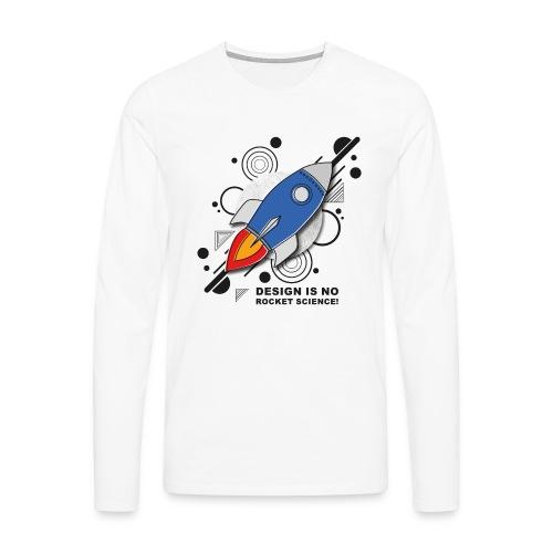Design is no Rocket Science Nummer 3 - Männer Premium Langarmshirt