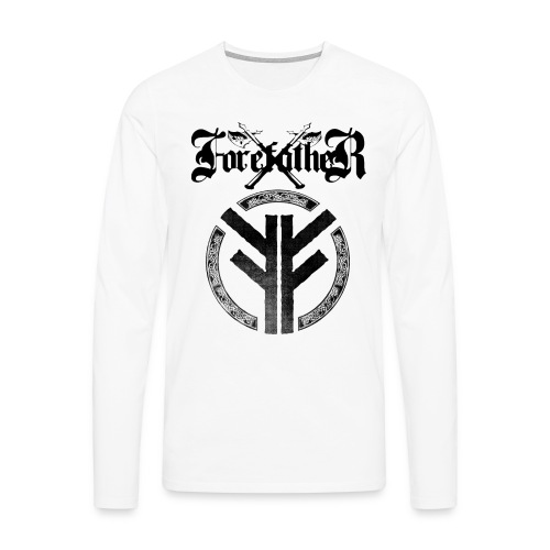 Forefather logo and symbol black - Men's Premium Longsleeve Shirt