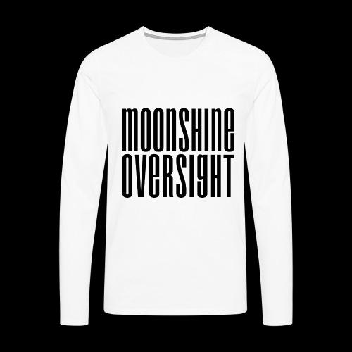 Moonshine Oversight noir - T-shirt manches longues Premium Homme